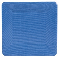 Caspari Paper Grosgrain Border Salad and Dessert Plates - Marine Blue