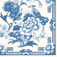 Caspari Paper Luncheon Napkins - Blue / White