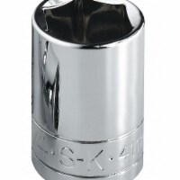 Sk Professional Tools Socket, Steel, Chrome, 24 mm  324 - 1