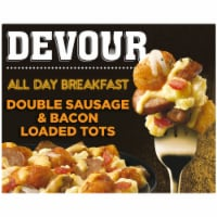 Devour All Day Breakfast Double Sausage & Smoked Bacon Loaded Tater Tots Frozen Meal - 9 oz