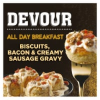 Devour All Day Breakfast Biscuits Bacon & Creamy Sausage Gravy Frozen Meal - 9.8 oz