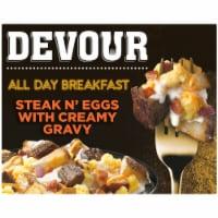 Devour All Day Breakfast Steak N' Eggs with Creamy Gravy Frozen Meal - 9 oz