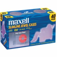 Maxell Slimline Jewel CD Cases - Clear