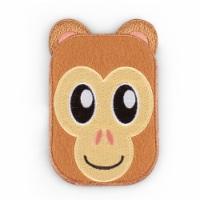 Monkey Shaped Stick-On Phone Wallet - 1