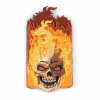 Fire Skull Shaped Stick-On Phone Wallet - 1