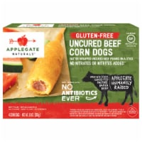 Applegate Naturals Gluten-Free Uncured Beef Corn Dogs 4 Count
