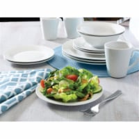 Pfaltzgraff White Porcelain Round Salad Plate, Pack of 12