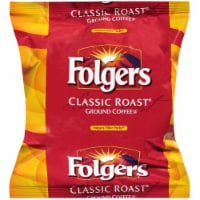 Folgers Classic Roast Ground Coffee - 0.9 oz. filter pack, 160 filter packs per case