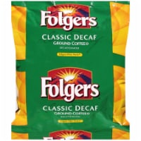 Folgers Classic Decaf Ground Coffee - 1.05 oz. filter pack, 80 packs per case