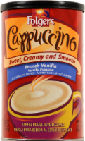 Folgers French Vanilla Cappuccino Coffee Mix