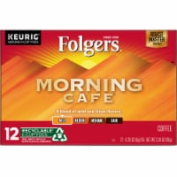 Folgers Gourmet Selections Morning Cafe Light Roast K-Cup Pods - 12 ct