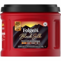 Folgers Black Silk Dark Roast Ground Coffee