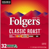 Folgers Classic Roast Medium Roast Coffee K-Cup Pods