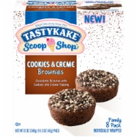 Tastykake Scoop Shop Cookies & Creme Brownies - 8 ct / 12 oz