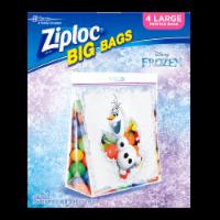 Ziploc Big Bags Disney Frozen Large Printed Bags - 4 pk