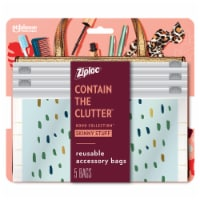 Ziploc Boho Collection Skinny Stuff Reusable Accessory Bags