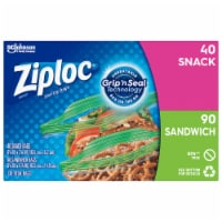 Ziploc Sandwich & Snack Lunch Pack Bags