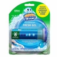 Scrubbing Bubbles Fresh Gel Toilet Cleaning Stamp Rainshower Dispenser with 6 Stamps