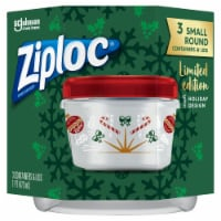 Ziploc Limited Edition Holiday Design Small Round Containers & Lids - 6 pc