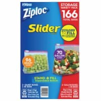 Ziploc Slider Storage Bag, Variety Pack, 166-count - 1 unit