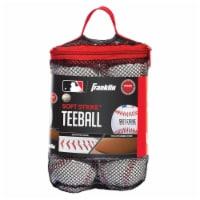 Franklin MLB Soft Strike Teeballs - 6 pk