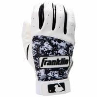 Franklin Digitek Youth Batting Gloves - White/Black