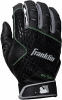Franklin 2nd Skinz Youth Batting Gloves - Black