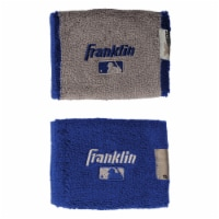 Franklin MLB® X-Vent Wristbands - Royal Blue/Gray
