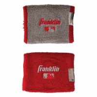 Franklin MLB® X-Vent Wristbands - Red/Gray