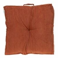 Parkland Collection Alena Transitional Burnt Orange Floor Pillow - 1
