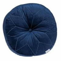 Parkland Collection Dorte Transitional Navy Floor Pillow - 1