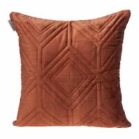 Parkland Collection Reta Transitional Burnt Orange Throw Pillow - 1