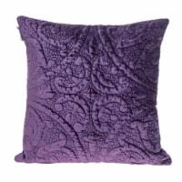 Parkland Collection Cristal Transitional Purple Throw Pillow - 1