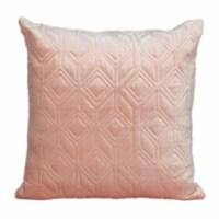 Parkland Collection Aleta Transitional Pink Throw Pillow - 1