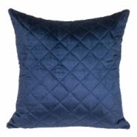 Parkland Collection Milo Transitional Navy Throw Pillow - 1