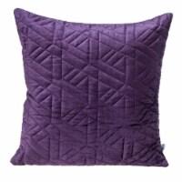 Parkland Collection Delta Transitional Purple Throw Pillow - 1