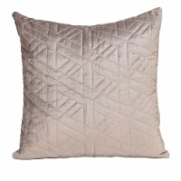 Parkland Collection Delta Transitional Taupe Throw Pillow - 1