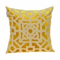 Parkland Collection Hazel Transitional Mustard Yellow Throw Pillow - 1