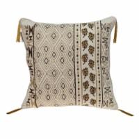 Parkland Collection Marjoram Transitional Beige Throw Pillow - 1