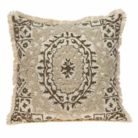 Parkland Collection Abu Transitional Beige Throw Pillow - 1