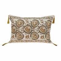 Parkland Collection Venus Transitional Beige Throw Pillow - 1
