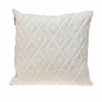 Parkland Collection Sorrel Transitional White Throw Pillow - 1