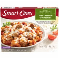 Smart Ones Savory Italian Recipe Three Cheese Ziti with Meatballs