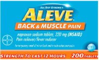 Aleve Back & Muscle Pain Tablets 220mg