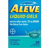 Aleve® Naproxen Sodium Pain Reliever/Fever Reducer Liquid Gels Capsules 220mg - 20 ct