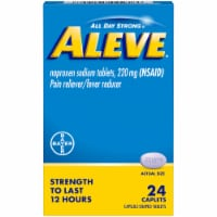 Aleve® Naproxen Sodium Pain Reliever/Fever Reducer Caplets 220mg - 24 ct
