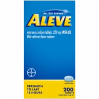 Aleve® Naproxen Sodium Pain Reliever/Fever Reducer Caplets 220mg - 200 ct