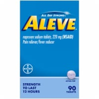 Aleve® Naproxen Sodium Pain Reliever & Fever Reducer Tablets - 90 ct