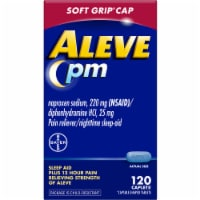 Aleve PM Soft Grip Cap Pain Reliever & Nighttime Sleep-Aid Caplets - 120 ct
