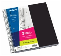 Oxford® College Rule 3 Subject Notebook